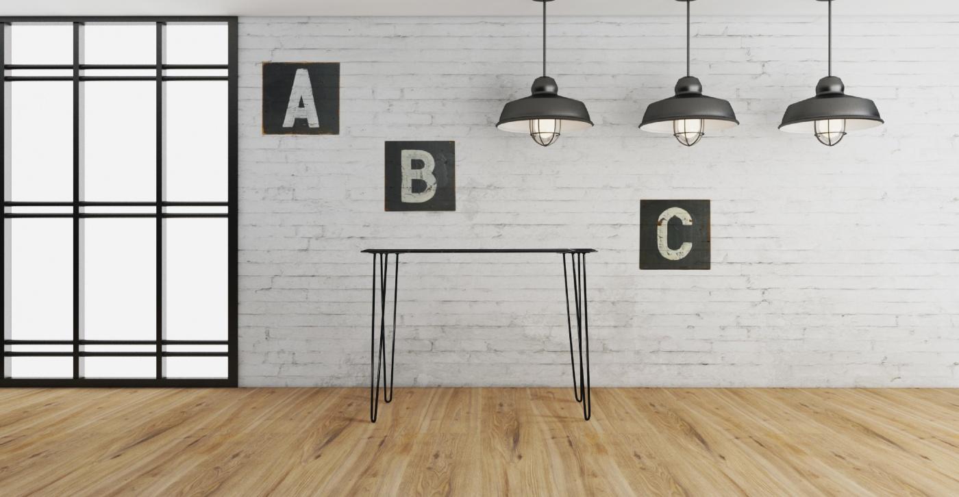 Mabel: console design en marbre noir