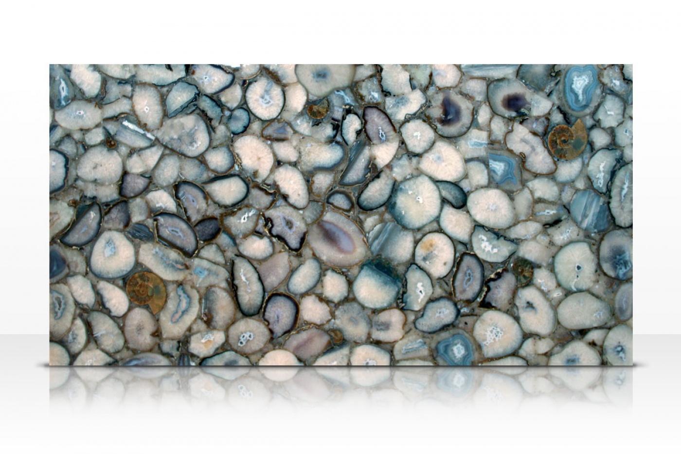 Semi-précieux Crystal Agate slab