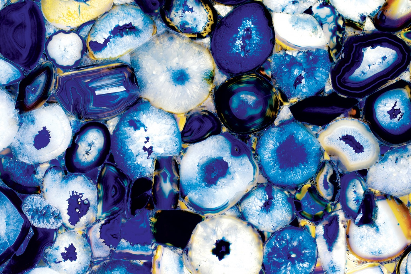 Blue Agate backlit