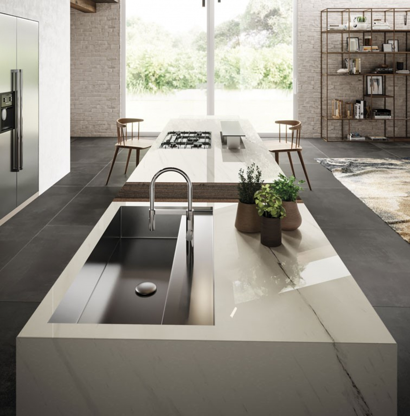 Granit Céramique marbre blanc satuarietto